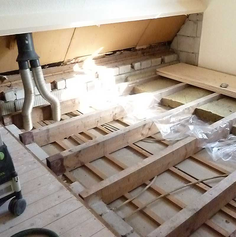 Vloer en wand renovatie Kagerbouw